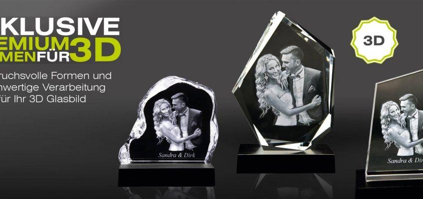 Das exklusive 3D Premium Bild in Glas – das besondere Geschenk! füngerFOTO