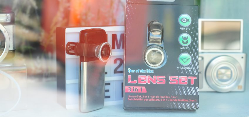Smartphone Objektiv-Set 3in1 Fisheye, Weitwinkel, Makro Lens mit Clip nur 9,90€