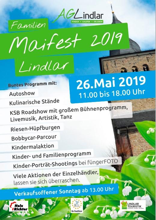 Maifest mit Fotoaktion am Sonntag, den 26.5. in Lindlar!