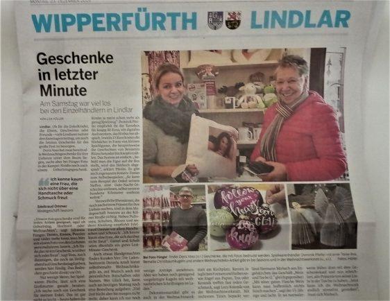 """""""Geschenke in letzter Minute"""" füngerFOTO heute in der BLZ"""