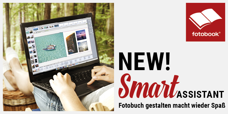 So einfach war die Fotobuch-Erstellung noch nie! • Smart Assistant im neuen fotobook Designer bei fünger FOTO