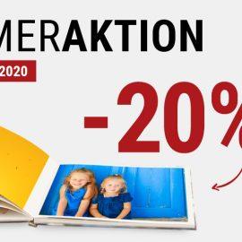 ☀ Sommeraktion bei fotobook – 20% auf Fotobücher und Wandbilder!