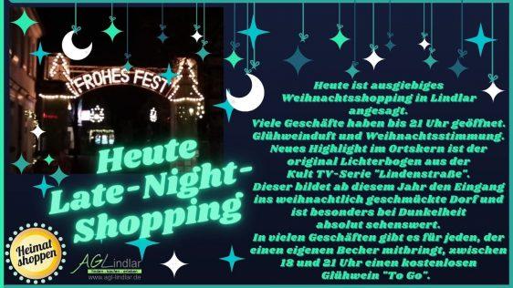Late Night Shopping am Freitag, den 04. Dezember 2020