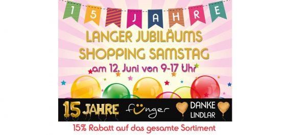Langer Jubiläums-Shopping-Samstag am 12.06.´21