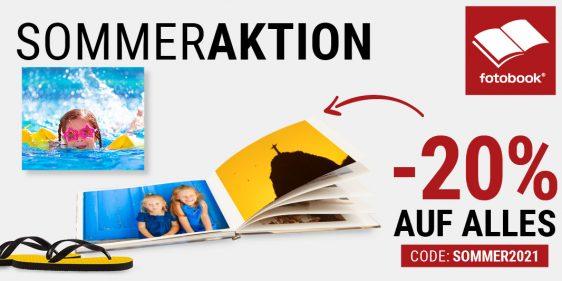 S☀mmeraktion – 20% auf Online-Bestellungen von Wandbilder, Fotobücher, Karten, Fotogeschenke etc.