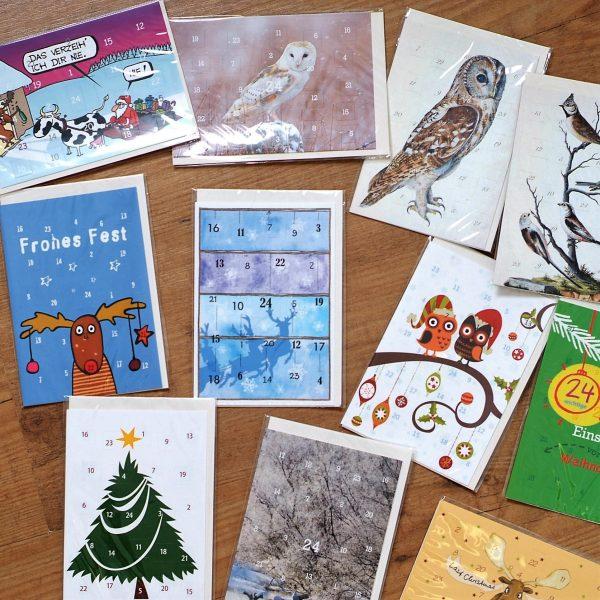 Jetzt gibt es sie wieder: unsere Adventskalender-Karten zum verschicken, verschenken oder selbst dran freuen…