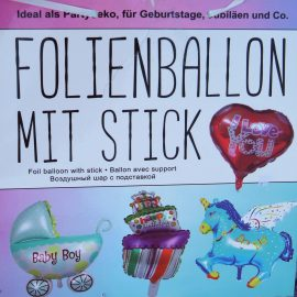 AKTION! Folienballon mit Stick nur 1,50 Euro